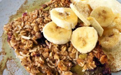 Warm Blueberry Breakfast Slice
